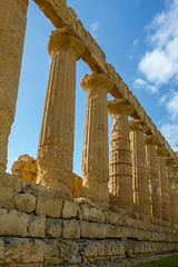 Temple of Hera (450-440 BCE) (Victoria Lea B) Tags: columns valleyoftemples ruin ruins templeofhera sicily italy hera column juno agrigento architecture