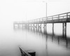 memories trapped in the fog (gks18) Tags: fog pier canon lightroom nik blackandwhite noiretblanc