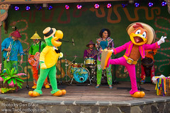 Discovery Island Carnivale Welcomes Jose and Panchito from The Three Caballeros!