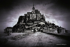 Digital Pencil Drawing of Mont Saint-Michel by Charles W. Bailey, Jr. (Charles W. Bailey, Jr., Digital Artist) Tags: montsaintmichel island couesnonriver normandy france europe photoshop photomanipulation topaz topazlabs topazdejpeg topazdenoise topazclarity topazrestyle topazdetail on1photo10 topazclean topaztexture topazimpression nikcolorefexpro4 alienskinsoftware alienskinexposurex3 pencildrawing stumping art fineart visualarts digitalart artist digitalartist charleswbaileyjr