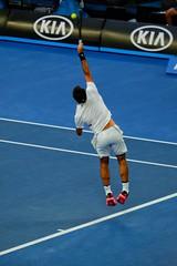 Timing (leweeg10) Tags: fuji fujifujifilm 55200mmfujinon service tennis quarterfinal australianopen ao rodgerfederer