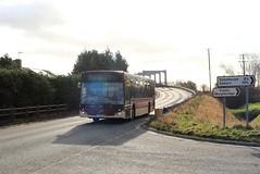 EYMS 385 YX14 HDZ A614 Double Bridges Thorne to Goole 25th January 2018 (2) (asdofdsa) Tags: eastyorkshiremotorservices 88service goole thorne bus transport bridge river a614 selbyroad eyms yx14hdz 385