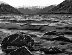 Rocks (malcolmgrant2) Tags: lakecoleridge blackandwhite mountains lake landscape fe70200 sonya7