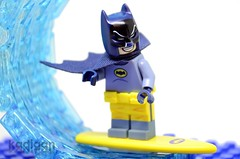 Surf's Up! (Kadigan Photography) Tags: lego minifigure batman classic adamwest surfing 1966 wave water