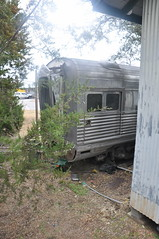 """CB&Q Baggage-Dormitory, Lounge 980 """"Silver Lining"""" - 3/4 End View (skytop45) Tags: chicago burlington quincy passenger train car denver zephry texas compound austin"""