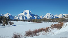 Mount Moran in Winter - Wyoming (petechar) Tags: petechar charlesrpeterson landscape mountain mountmoran river snakeriver tetons winter snow grandtetonnationalpark oxbowbend panasonicg9 leica1260mm polarizer tripod