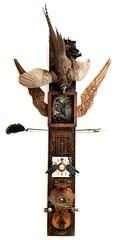 Avian Requiem Totem (Vincent Mattina (aka FLUX)) Tags: avian birds totem requiem phasant taxidermy assemblage art digital violin bow clockwork time wings