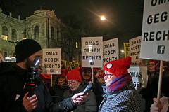 Grannies Against Rightists (Wolfgang Bazer) Tags: omas gegen rechts grannies against rightists monika salzer akademikerball hofburg wien vienna österreich austria fpö burschenschaften wkrball