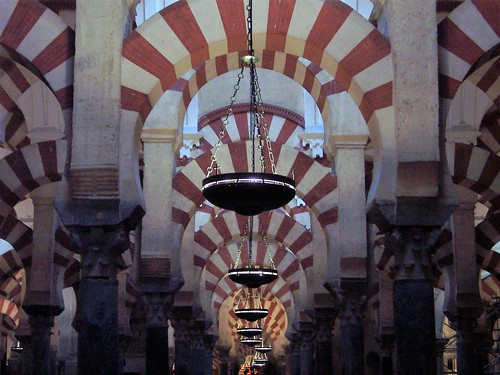 Arches and symmetry in the Mezquita - Cordoba, Spain