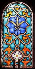 Sts. Cyril and Methodius Wheat SG (Jay Costello) Tags: stscyrilandmethodiusukrainiancatholicchurch stscyrilandmethodius ukrainiancatholic ukrainian catholic church god worship religion architecture stcatharineson stcatharines ontario canada ca on stainedglass wheat blue