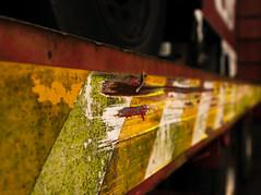 Leading Yellows WK 04/52 (ClassicAngles) Tags: 52weeksof2018 classicangles closeup dof depthoffield nikon tamron24to70 museum transport trailer rust