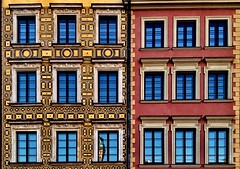 (yeezusr96) Tags: oldtown geometric window amazing architecture pastelcolours poland warsaw