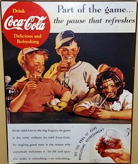 Vintage Coke ad reproduction (Will S.) Tags: mypics ad aylmer quebec canada cassecroûte snackbar lapatataglacée cocacola vintage reproduction
