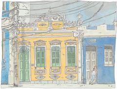 Brasil, Bahia, Salvador, Carmo (pirlouit72) Tags: bresil brasil brazil salvador bahia salvadordebahia sketch drawing dessin croquis urbansketch urbansketcher urbansketchers carnetdevoyage unesco