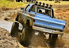 mud bath... (Stu Bo) Tags: mud truck racing mudding water dirt fun chevorlet chevypower 4x4 speed sbimageworks ride jump oldschool onewickedride