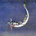 """William Heath Robinson """"The Moon's First Voyage"""" 1916 (detail modified)"""
