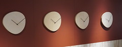 Four wooden clocks (spelio) Tags: ikea shopping sets test a6000 sony stuff things shooting art display clock time