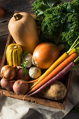 Raw Organic Winter Farmers Market Box (brent.hofacker) Tags: agriculture autumn background basket box carrots container crate crop fall farm farmersmarketbox food fresh garden gardening garlic green growing harvest harvesting healthy heap kale market natural nature onions organic picking potatoes produce raw ripe squash summer vegetable vegetablebox vegetables vegetarian veggiebox veggies winter wooden
