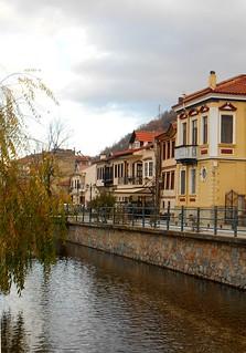Φλώρινα / Houses, river and the willow tree