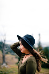 (KieraJo) Tags: 50mm 14 canonef50mmf14usm bokeh lens canon 5d mark 3 iii 5d3 fullframe dslr utah logan cache valley photographer photographers beautiful island park portrait tree trees field texture wood woods pines pine idaho montana wyoming yellowstone national girl woman boho style candid happy wanderlust travel hat blur background mountains nature overlook scenic sky profile wind