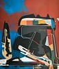 Jim Harris: Heimdallr. (Jim Harris: Artist.) Tags: maalaus kunst peinture art arte abstract malerei technology avantgarde painting cosmos weltraum space ambient sky red himmel