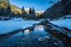 Slow Stream (tomi.a) Tags: italy italia dolomites dolomiten dolomiti valley valdifassa avisio river stream water movingwater mountains forest trees nature outdoor skiing rocks snow winter sky travel landscape snowscape d850 flickr alps flow cold tree wood mountain