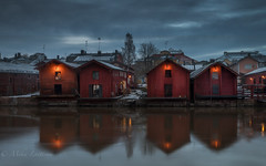 Old Porvoo (Mika Laitinen) Tags: canon5dmarkiv europe leefilters porvoo architecture city cityscape cloud color longexposure outdoors river sky sunset twilight water winter borgå uusimaa finland fi