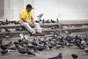 A flurry of activity (AEChown) Tags: pigeons leon nicaragua man feeding cathedral whitecathedral yellowshirt cap birds movement flurry fluttering feedingtime streetphotography street jewellery cross