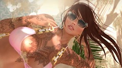 With you in mind, is the winter feels like summer heat! (❥ VιєրɲαSz໓ţα) Tags: secondlove secondlife portrait beach summervibes dutch sexy photography model