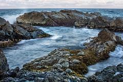 Leading Lines and crashing waves (StefanKleynhans) Tags: nikon d7100 waves ocean rocks water sea beach forster nsw australia