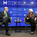 Former Fed Chairs and Distinguished Fellows in  Residence, Dr. Janet L. Yellen and Dr. Ben S. Bernanke in conversation.