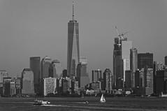 NYC Skyline (Leguman vs the Blender) Tags: nikond90 nyc newyork manhattan usa bw skyline