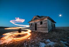 Pyro (Lightcrafter Artistry) Tags: fire night lightpainting longexposure nightphotography abandonedbuilding 5