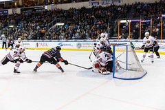 """Kansas City Mavericks vs. Indy Fuel, February 17, 2018, Silverstein Eye Centers Arena, Independence, Missouri.  Photo: © John Howe / Howe Creative Photography, all rights reserved 2018 • <a style=""""font-size:0.8em;"""" href=""""http://www.flickr.com/photos/134016632@N02/39676653964/"""" target=""""_blank"""">View on Flickr</a>"""