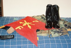 My Gear Before A Ceremony (MDMachiavelli) Tags: guidon patriot missile united states army germany air defense artillery