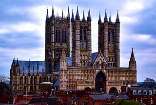 Lincoln Cathedral from the castle walls.
