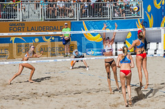 Match 57: Round of 16: USA vs. Russia (cmfgu) Tags: craigfildesfineartamericacom fédérationinternationaledevolleyball internationalfederationofvolleyball fivb swatchfivbbeachvolleyballmajorseries worldtour fortlauderdale ftlauderdale browardcounty florida fl usa unitedstatesofamerica beach volleyball tournament professional sun sand tan athlete athletics ball net court set match game sports outdoors ocean palmtrees women woman bikini rus russia россия kerriwalshjennings goldmedalist aprilross silvermedalist bronzemedalist ekaterinabirlova olympian nadezdamakroguzova