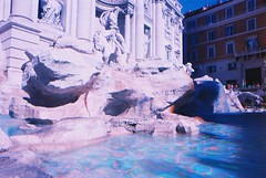 Trevi Fountain Multiple Exposure (goodfella2459) Tags: nikon f4 af nikkor 24mm f28d lens kodak ektar 100 35mm c41 film analog colour trevi fountain roma multiple exposures experimental abstract italy rome water buildings lensfiltersgroup
