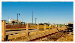 Down by the Tracks (Timothy Valentine) Tags: 2018 0118 large railway friday datesyearss fence newbedford massachusetts unitedstates us