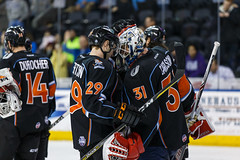 "Kansas City Mavericks vs. Ft. Wayne Komets, March 2, 2018, Silverstein Eye Centers Arena, Independence, Missouri.  Photo: © John Howe / Howe Creative Photography, all rights reserved 2018 • <a style=""font-size:0.8em;"" href=""http://www.flickr.com/photos/134016632@N02/39930353824/"" target=""_blank"">View on Flickr</a>"