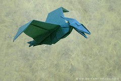 31/365 Pteranodon by John Montroll (origami_artist_diego) Tags: origami origamichallenge 365days 365origamichallenge pteranodon pterosaur prehistoric