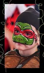 Mein Montagsgesicht :-)) (ღ eulenbilder - berti ღ) Tags: fasching schminke faschingsfest turtle kostüm fasziniert maximilian ninjaturtlekämpfer