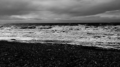 Power (dariaalex) Tags: sky sea clouds nature storm power water ocean france bw monochrome