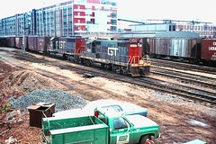 GT #4543 at BEND Tower (rrradioman) Tags: 4543 gp9 emd electromotive gt gtw grand trunk western south bend tower indiana em