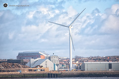 I`m a big fan. (alundisleyimages@gmail.com) Tags: windturbine windfarm liverpoolfootballclub anfieldstadium rivermersey 5timesmatey justiceforthe96 landscape cityscape portsandharbours houses northwestengland scrapyard sheds docks maritime