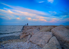 on the rocks a matter of perspective (Singing With Light) Tags: 17th 2017 alpha6500 ct milford mirrorless nycny silversandsstatepark silversands singingwithlight sunsetjune a6500 boardwalk july photography singingwithlightphotography walnutbeach