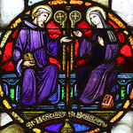 St Scholastica with St Benedict thumbnail
