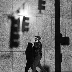 Traffic Report (mattwaller@ymail.com) Tags: blackandwhitephotography blackandwhite bnw blackwhite bw monochrome urban city seattle streetphotography street streetphotographers streetphoto streetlife people trafficlight shadows