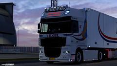 Progress - Schouwstra DAF XF105 [ETS2] (gripshotz) Tags: daf xf 105 schouwstra texel jp vis ekeri trailer euro truck simulator ets 2