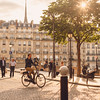 An afternoon in Paris (ninasclicks) Tags: paris sunny sun street streetphotography travel travelphotography bicycle bike man goldenlight architecture